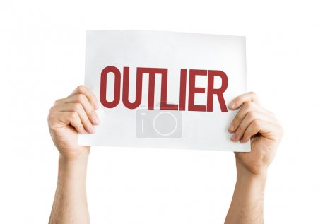 Outlier text placard