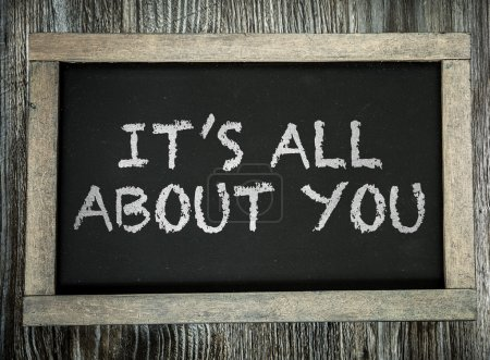 Photo pour Son All About You écrit sur le tableau noir - image libre de droit