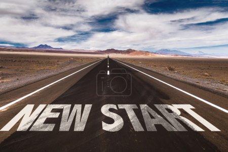New Start written on road