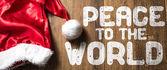 Mír ve světě na dřevěné pozadí