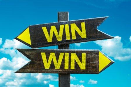 Win Win signpost