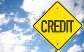 Credit text sign