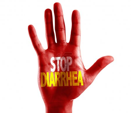 Stop Diarrhea written on hand