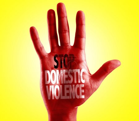 Stop Domestic Violence written on hand