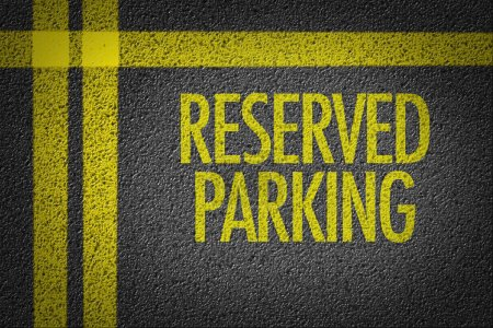 Reserved Parking in a retail parking lot