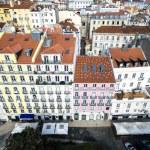 Alfama Colored Houses, Lisbon, Portugal...