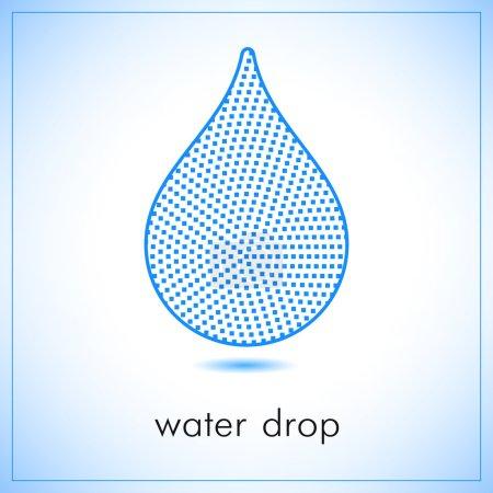 Water drop abstract vector logo design template. Squares shape art creative concept