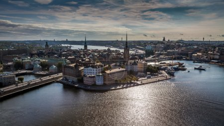 Aerial View of Gamla Stan