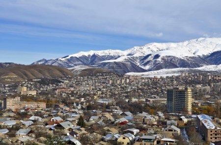 Vanadzor ville, vue d'une hauteur