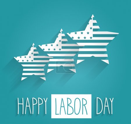 Happy Labor Day. Vector illustration.