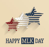 Martin Luther King Day poster Red white and blue stars Vector illustration