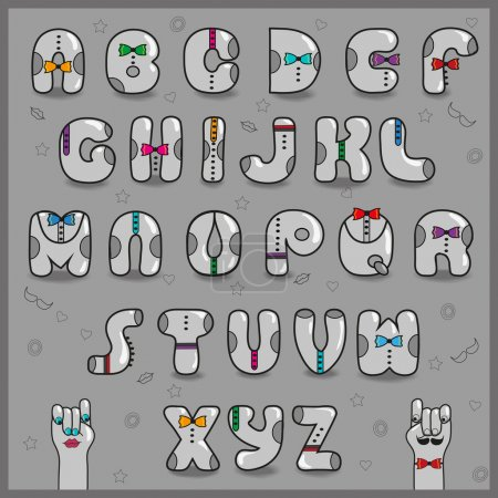 Hipster Alphabet. Vector Illustration
