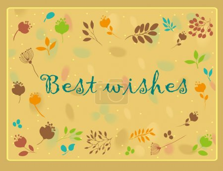 Best wishes inscription with floral background
