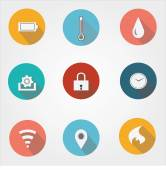 Feature specification icons for industries companiesbusiness or for product overview
