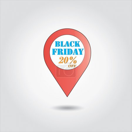 Illustration for Black Friday sales vector ,shopping offer or year end shopping sale tag - Royalty Free Image