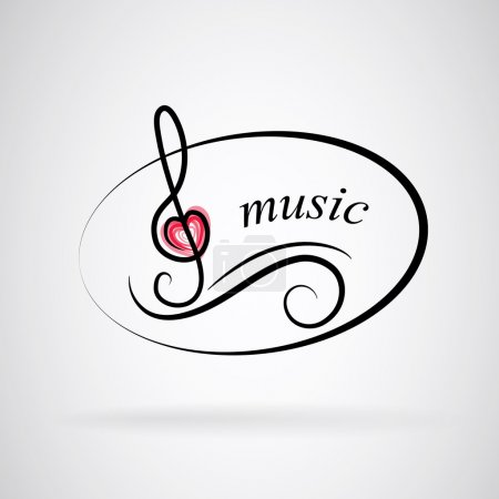 Logo music with treble clef