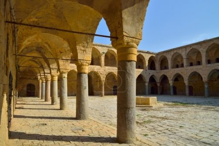 Akko Israel courtyard in the castle of the knights Templar
