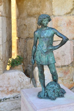 The statue of a young king David