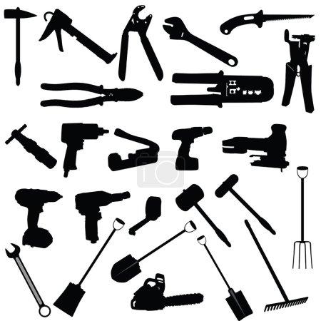 Tools vector silhouette illustration