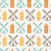 Vector seamless pattern on agricultural theme