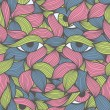 Abstract seamless pattern with face looking at you...