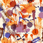Abstract seamless pattern with colorful hand drawn blots