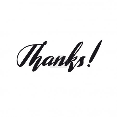 Illustration for Thanks lettering vector in modern style - Royalty Free Image