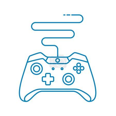 Game Controller im Outline-Stil