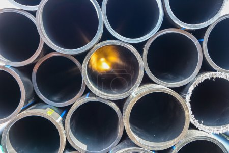 big plastic pipes
