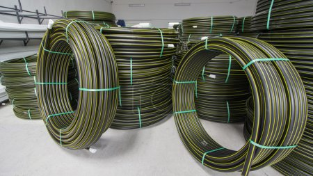 large spools of electric cables