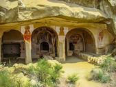 Murals on the walls of caves in David Gareja Monastery