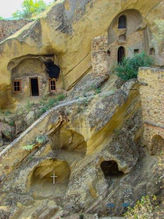 Murals on the walls of caves in David Gareja Monastery
