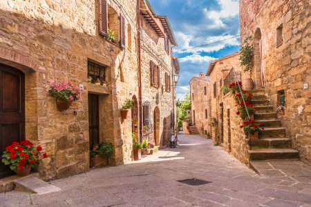 Photo for Old street in tuscany village - Royalty Free Image