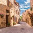 Old street in tuscany village...