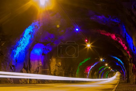 Photo for Underground tunnel with light at the end - Royalty Free Image