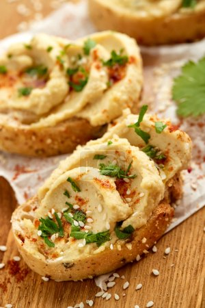 Photo for Delicious and healthy canapes with organic products - Royalty Free Image