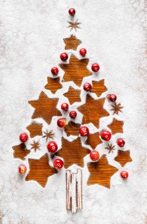Photo pour Arbre de Noël, ornement de Noël - image libre de droit