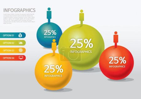 Info-graphic - sphere style - population