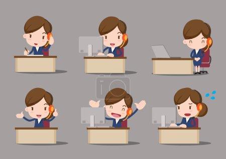 Ilustración de Carácter de negocio - servicio al cliente - Imagen libre de derechos