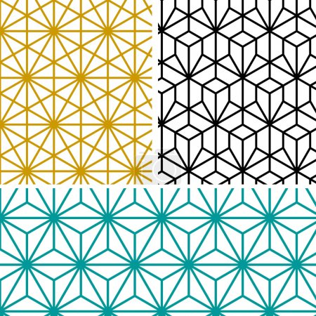 Illustration for Abstract modern geometric hexagon pattern in tree style - Royalty Free Image