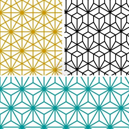 Geometric hexagon pattern in tree style