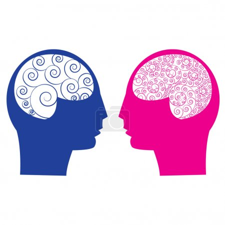 Abstract male vs female brain
