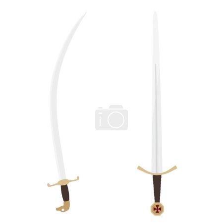 Templar sword and sabre