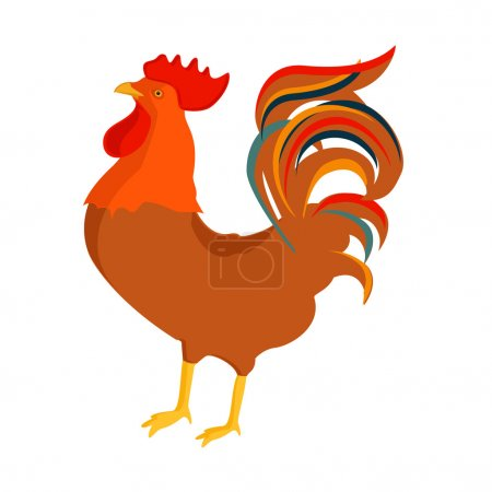 Cock, rooster vector.