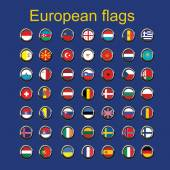 Illustration of european country flags