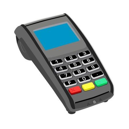 Illustration for Pos,  pos machine,  credit card  credit card terminal - Royalty Free Image