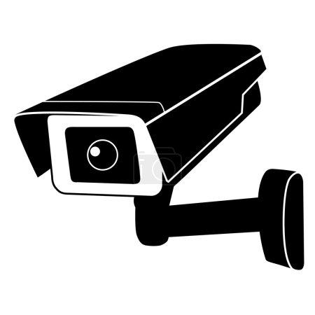 Surveillance camera vector icon. Surveillance moni...