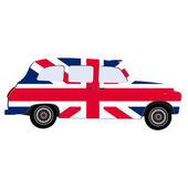 London taxi vector isolated great britain flag united kingdom flag london cab