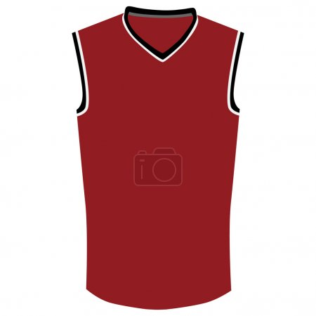 Red basketball jersey