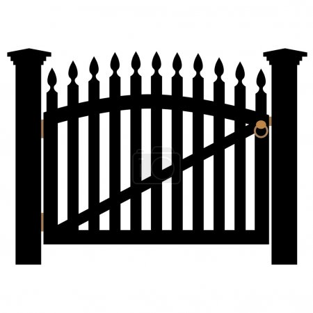 White gate with handle